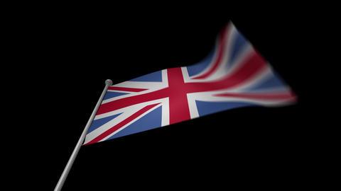 UK Flag Stock Video Footage