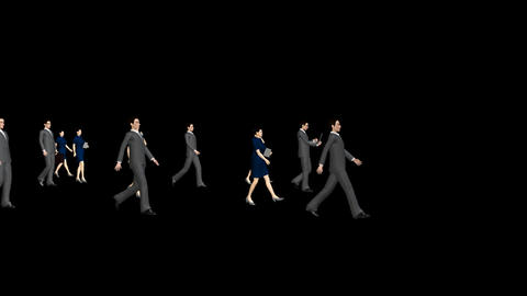 People Walking - Business Stock Video Footage