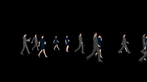 People Walking - Business Animation