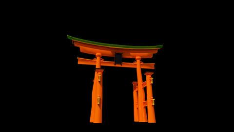 Japan - Miyajima - Itsukushima Shrine Torii Stock Video Footage
