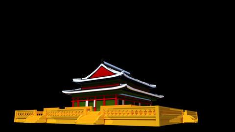 South Korea - Gyeongbok Palace Stock Video Footage