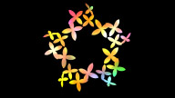 Flower Spin Color stock footage