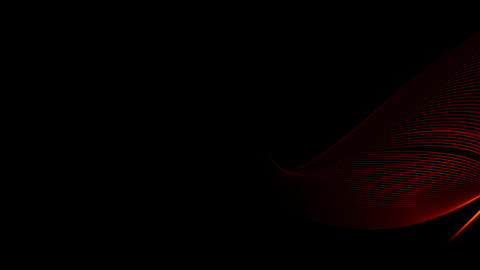 Red 3D Light Wave with alpha Stock Video Footage
