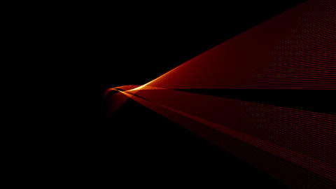 Red 3D Light Wave with alpha Animation