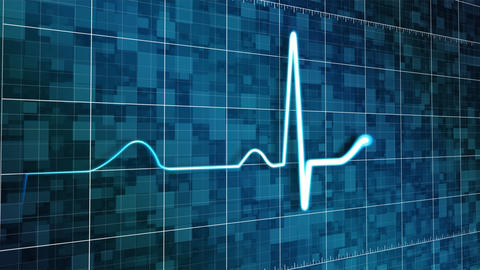 Stylized Heart Monitor Stock Video Footage