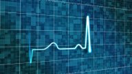 Stylized Heart Monitor stock footage