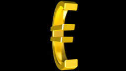 Euro sign Stock Video Footage