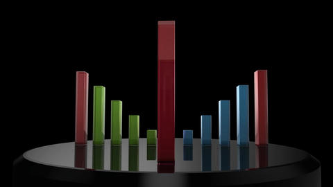 Bar Chart Stock Video Footage