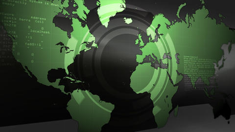 Digital Earth Map Stock Video Footage