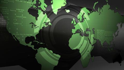Digital Earth Map Animation