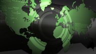 Digital Earth Map stock footage