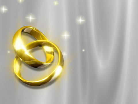 Wedding Rings Looping Background Stock Video Footage