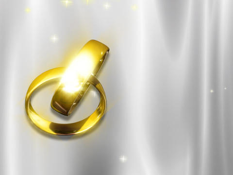 Wedding Rings Looping Background Stock Video Footage