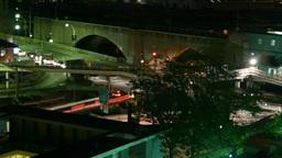 Night_traffic01 stock footage