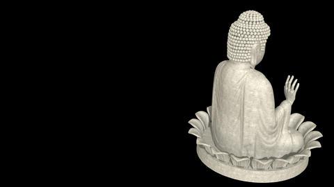 Full shot Buddha on lotus wheel Stock Video Footage