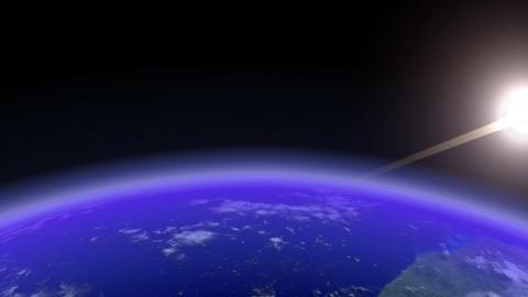 Earth Horizon slow Stock Video Footage