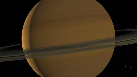 Saturn Flyby Stock Video Footage