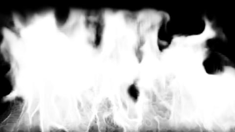 Fire burning down. Render Animation
