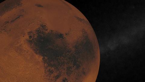 Mars Orbiting Stock Video Footage
