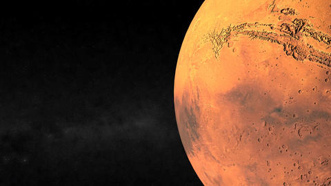Passing Mars Closeup Animation