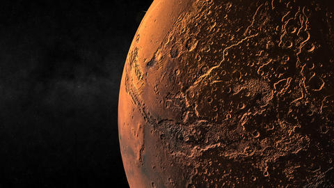 Passing Mars Closeup Stock Video Footage