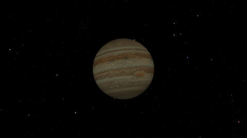 Jupiter Flyby Stock Video Footage