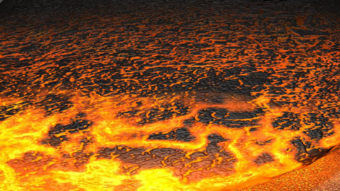 Lava Flowing stock footage