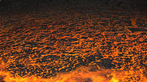Lava Flowing Stock Video Footage