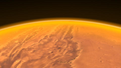 Mars Channels fly over Stock Video Footage
