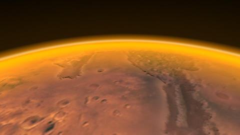 Mars Channels fly over Animation