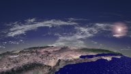 Flight Over North America, Sun And Clouds stock footage
