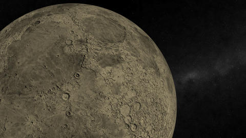 Orbiting the Moon Stock Video Footage