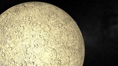 Orbiting the Moon Stock Video Footage