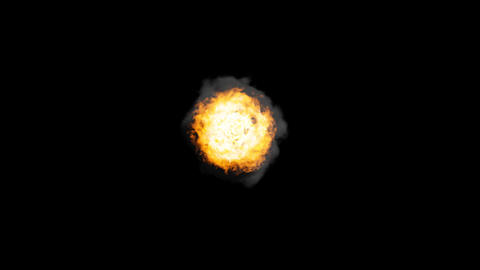 Fireball + Alpha Stock Video Footage