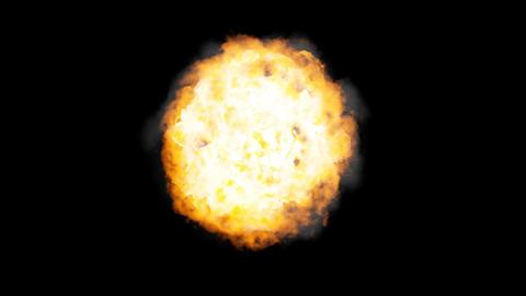 Fireball + Alpha Stock Video Footage