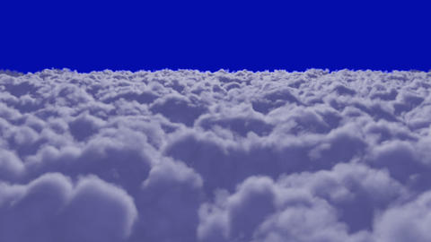 Flying over Clouds + alpha Stock Video Footage