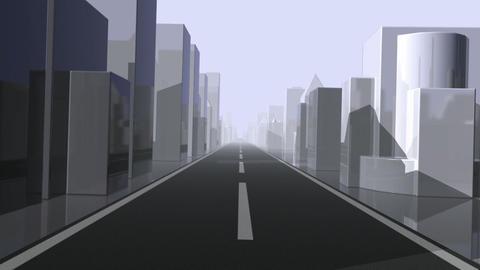 City Driving. Loop Stock Video Footage