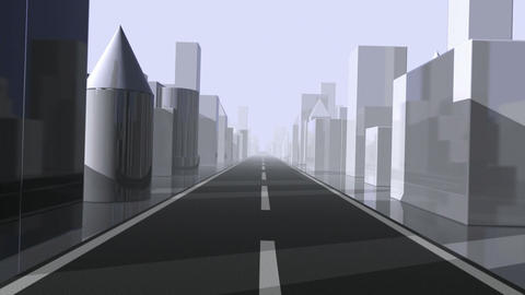 City Driving. Loop Animation