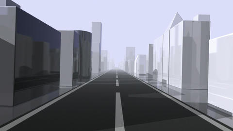 City Driving. Loop Stock Video Footage