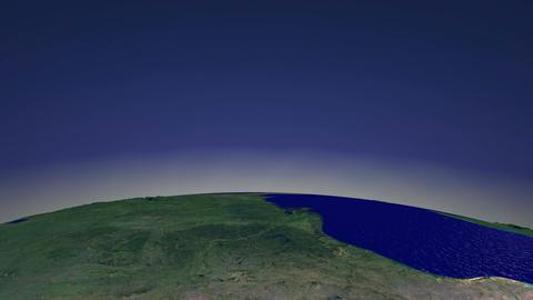 Flight over North America Stock Video Footage