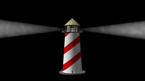 Lighthouse (Loop) + Alpha Channel Stock Video Footage