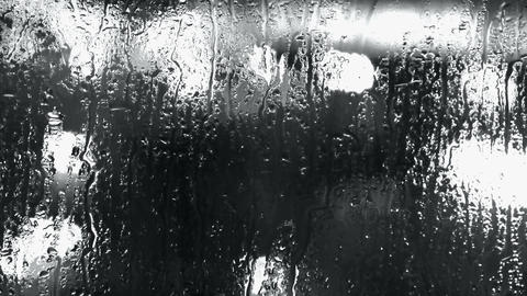 Water droplets on windows,Grilles,ice,Water vapor Stock Video Footage