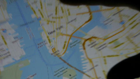 Operations map with fingers on... Stock Video Footage