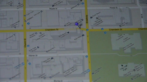 Operations map with fingers on ipad Stock Video Footage