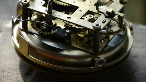 internal structure of Watch,bearings,gears Stock Video Footage
