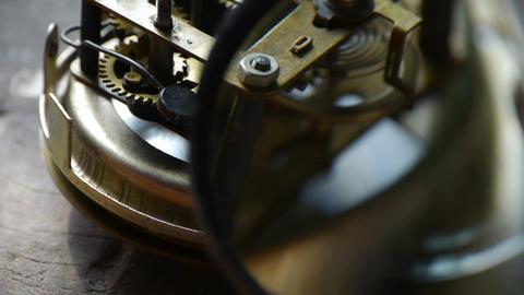internal structure of Watch,bearings,gears Stock Video Footage
