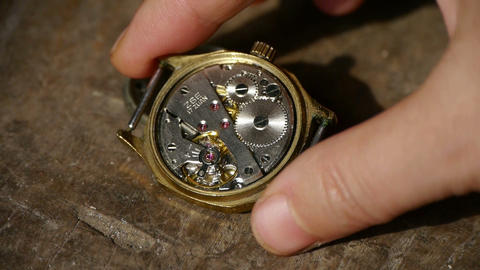 Holding internal structure of Watch on... Stock Video Footage