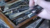 Get tools from old toolbox.artisans,technicians Footage