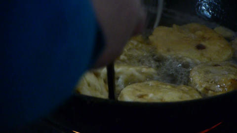 Pan fried with delicious food,Cooking Stock Video Footage