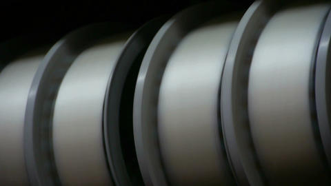 Reeling machine in operation Stock Video Footage